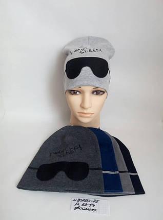 Подростковая шапка для мальчика Ночные очки р. 52-54, фото 2
