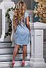Женское хлопковое платье-рубашка с кружевом на груди (2637-2635-2636 svt), фото 4