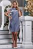 Женское хлопковое платье-рубашка с кружевом на груди (2637-2635-2636 svt), фото 2