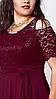 Макси платье мод 568-1, размер 52, красное, фото 3