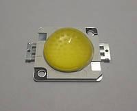 Мощная светодиодная COB-матрица 30Вт 110Lm/W с линзой