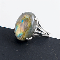 Лабрадор, 18*13 мм., серебро 925, кольцо, 886КЛ