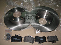 Комплект тормозной задний AUDI 100, AUDI A6 95-, SKODA SUPERB 02-,Volkswagen PASSAT 96- (производство REMSA) (арт. 8263.00), AFHZX