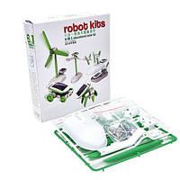 Детский конструктор на солнечной батарее Robot Kits 6 в 1, 1001872, конструктор на солнечной батарее Robot Kits 6 в 1, конструктор