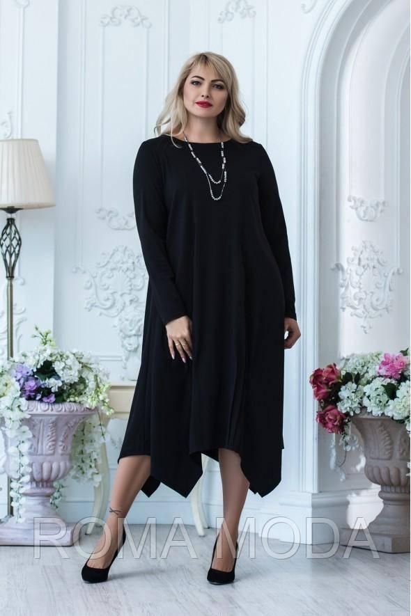 Очаровательное  черное платье 764318