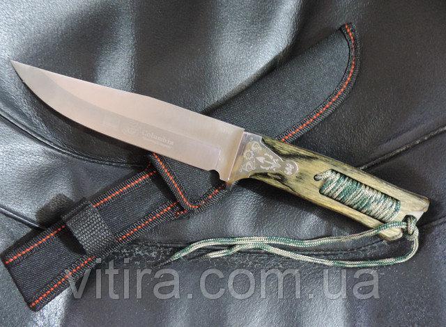Охотничий нож с темляком. Нож для выживания Columbia USA Saber. Нож эксклюзив.