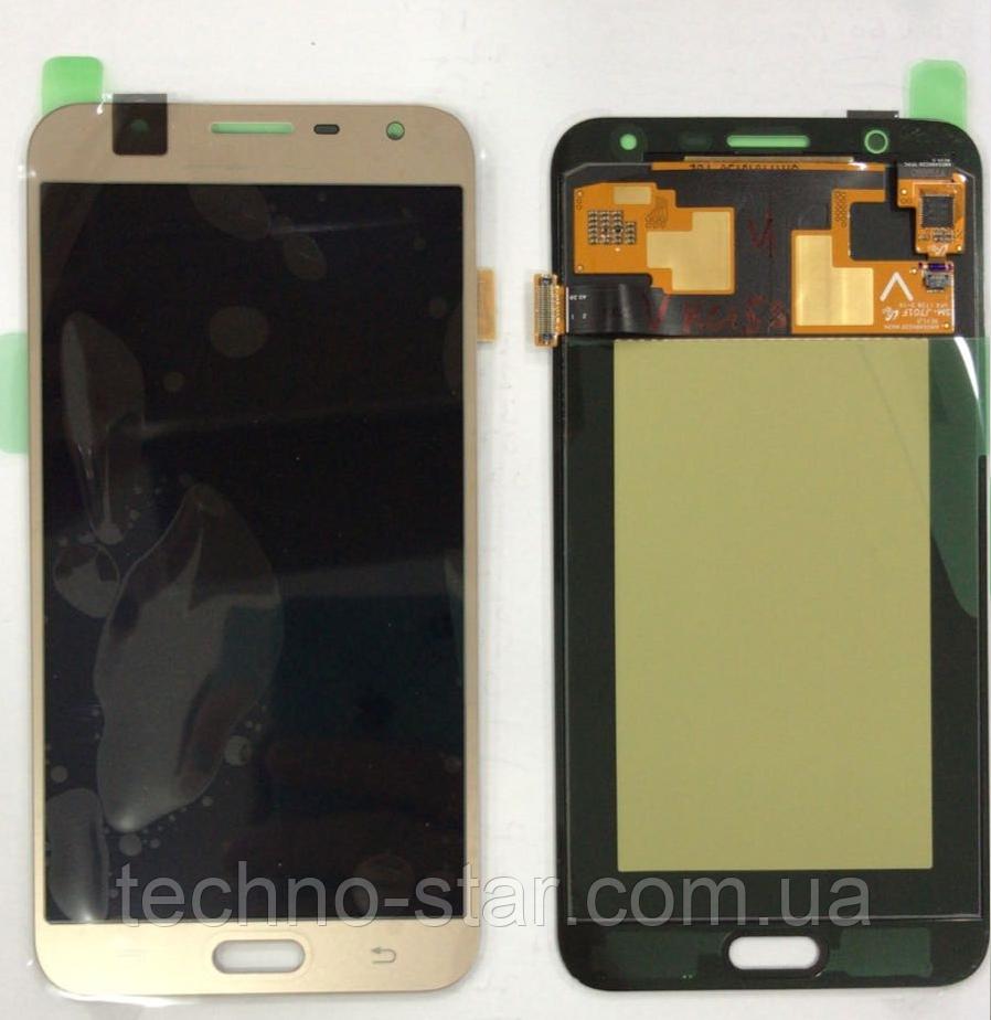 Дисплей (модуль) + тачскрин (сенсор) Samsung Galaxy J7 Neo J701   J701F   J701M (золотой яркость регулируется)