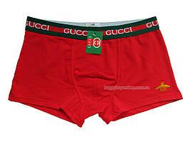 Мужские трусы боксёры Gucci с пчелкой красные
