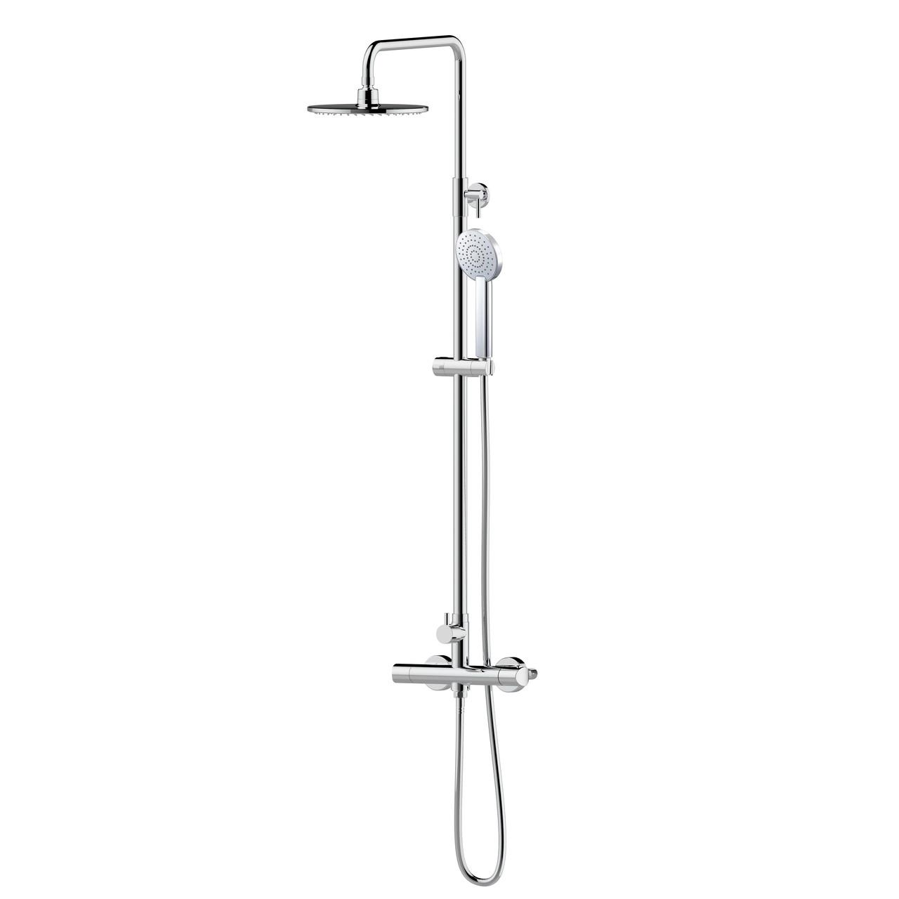 CENTRUM система душова (змішувач-термостат для душу, верхній та ручний душ 1режим, шланг )