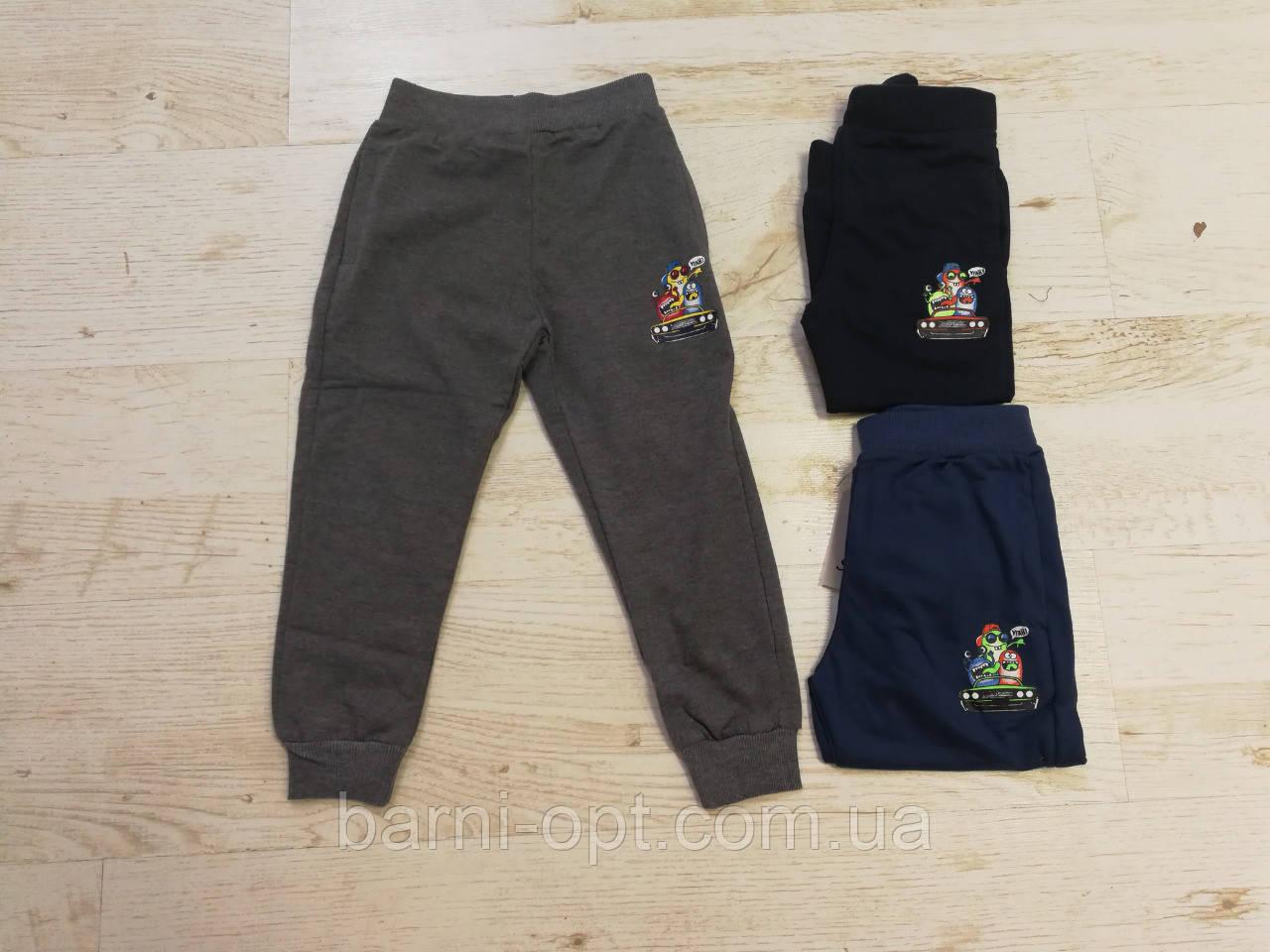 Трикотажные спортивные брюки для мальчиков оптом, Sincere 80-110 рр.