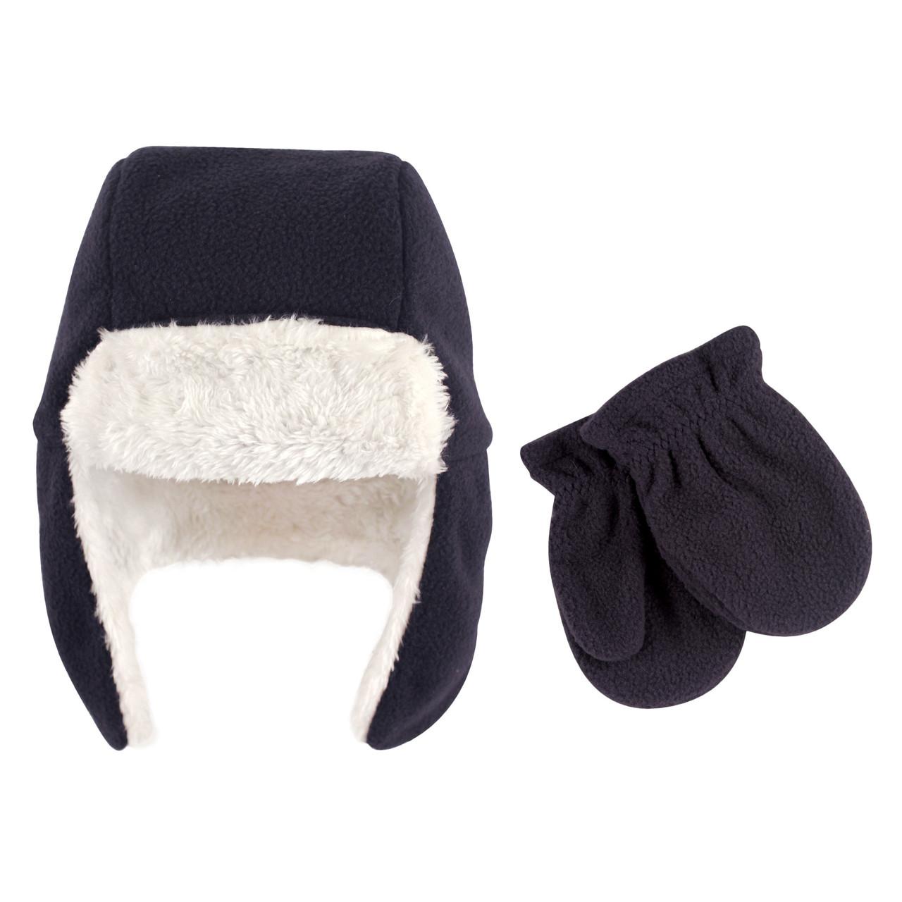 Набор шапка и рукавички 0-6 мес. Hudson baby (США) черный