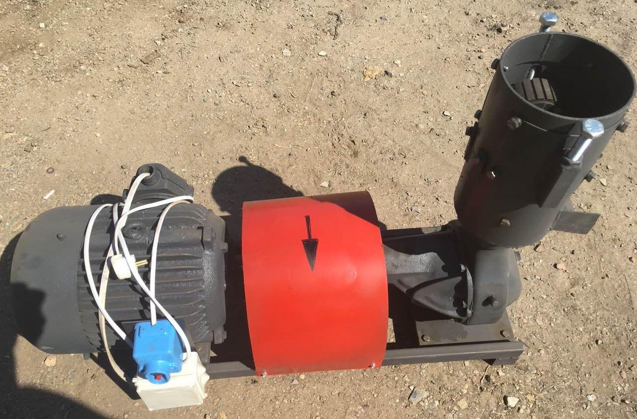 Гранулятор комбикорма ПГУ, подвижная матрица 150 мм, 120 кг/час, 4 кВт