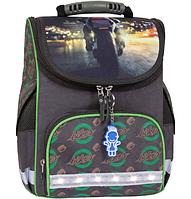 Школьный каркасный ортопедический рюкзак Bagland Успех с фонариками хаки