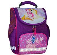 Школьный каркасный ортопедический рюкзак Bagland Успех с фонариками фиолетовый