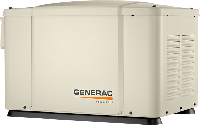 """Generac 6520 - газовый однофазный генератор на 5,6 кВт. Монтаж """"под ключ""""."""