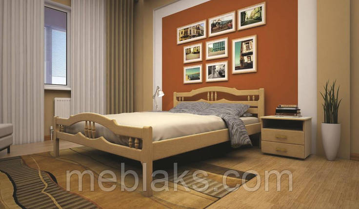 Кровать ЮЛІЯ 1 90х190 ТИС, фото 2