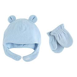 Набор шапка и рукавички на 2/4 года Luvable Friends (США) голубой