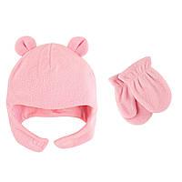 Набор шапка и рукавички 18-24 мес. Luvable Friends (США) розовый