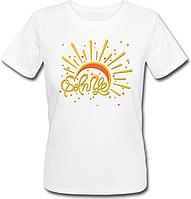 Женская футболка Солнце (белая)