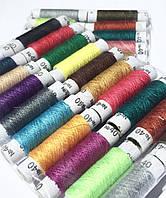 Швейная нитка №40 цветная. Полиэстер. Плотный намот 100м. 20 катушек в 1 уп., фото 1