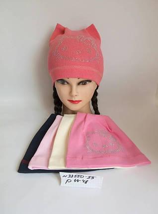 Детская шапка для девочки Ушки р. 44-48, фото 2