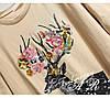 Женская футболка с аппликацией и камнями, в расцветках. АР-7-0718, фото 3