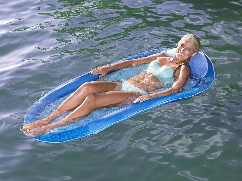 """Матрас пляжный """"без дна""""! Плаваете полностью на воде - сетчатое дно! Новинка!"""