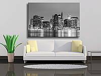 "Картина на холсте ""Manhattan At Night, New York City"""