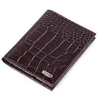 Кожаная обложка на паспорт коричневая Butun 147-002-004
