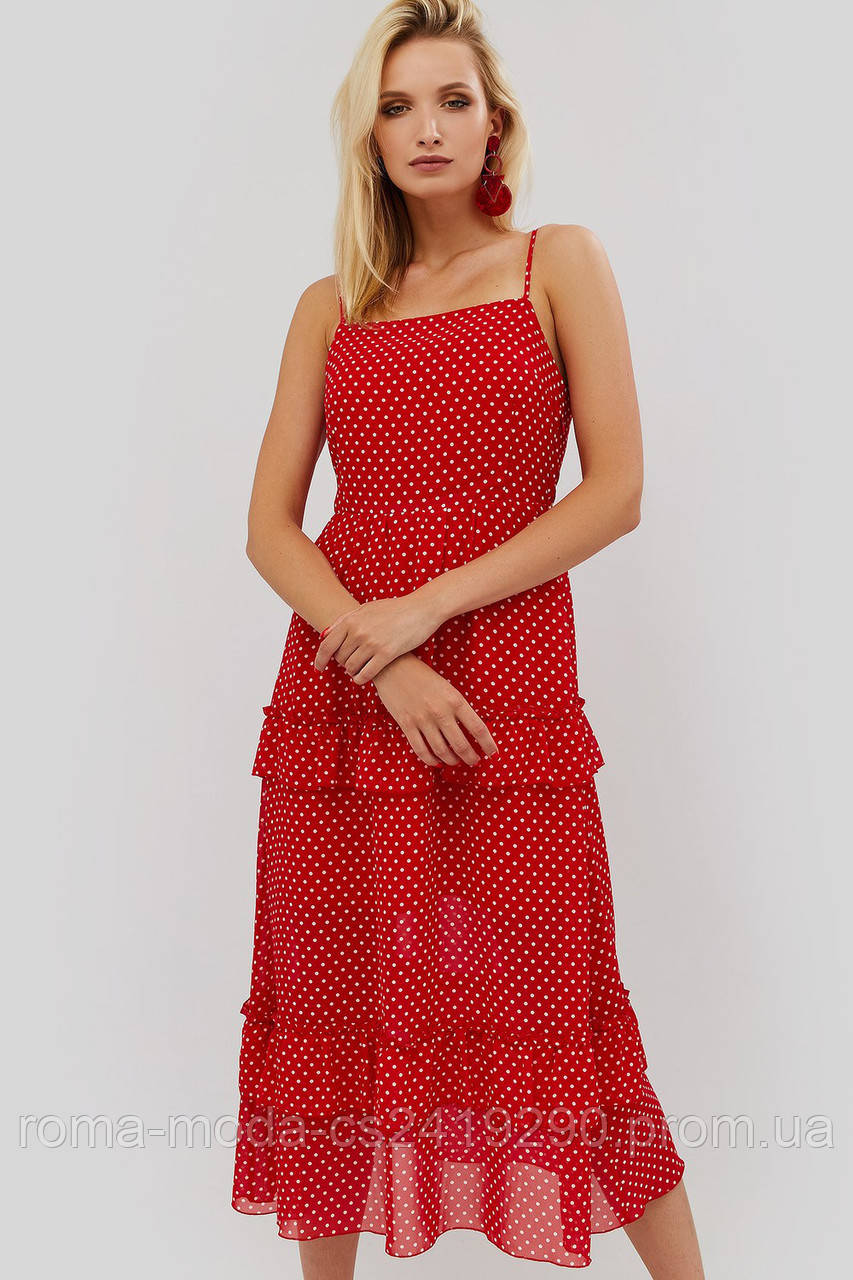 Красивое женское платье миди TITOS