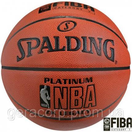 Баскетбольный мяч Spalding NBA Platinum ZK Legacy, фото 2