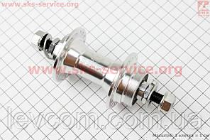 Втулка передня MTB алюмінієва 14Gx36H під диск. гальма (різьба), 2 пром-підшипники 6200 2RS, крепл. гайка