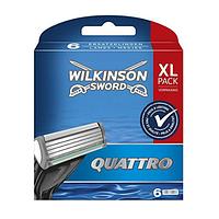 Сменные кассеты Wilkinson -  Quattro Plus Pack- 6 шт