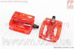 """Педалі на МТВ 9/16"""" полікарбонатні до-кт, червоні HC - JD185"""