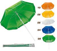 Зонт пляжный d2.5 м серебро с наклоном (34S)