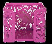 """Бокс для бумаги """"barocco"""", металлический, розовый bm.6216-10"""