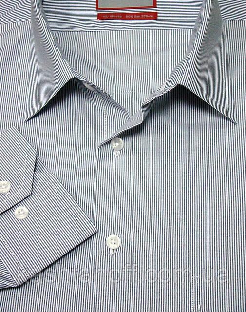 Серая рубашка в полоску