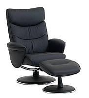 Крісло NIELSBY з пуфом чорний
