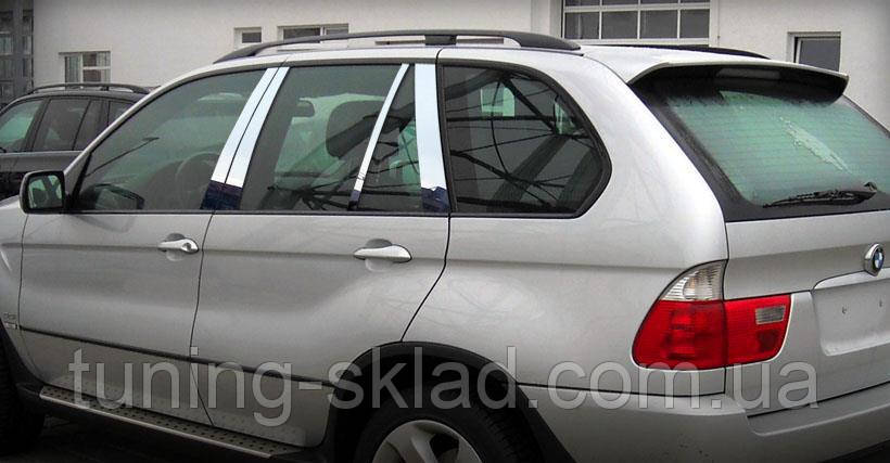 Хром молдинги дверных стоек BMW X5 E53 (БМВ Х5 Е53)