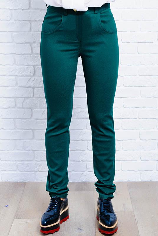 Женские классические джинсы -Мексика- изумрудный