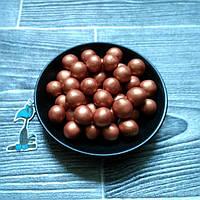 Кондитерская посыпка Воздушный рис в шоколадной глазури Бронзовый (12 мм) - 50 грамм