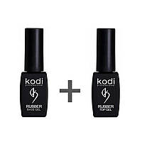 Kodi Rubber Top Gel + Kodi Rubber Base Gel 8 мл.
