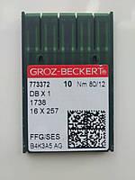 Голки Groz-Beckert. 80/12 SES DB-1