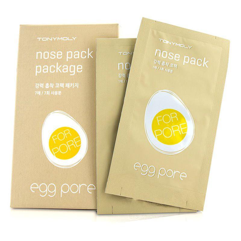 Патч для очищения пор на носу Tony Moly Egg Pore Nose Pack Package