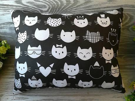 Подушка кошкины мордочки , 38 см * 28 см, фото 2