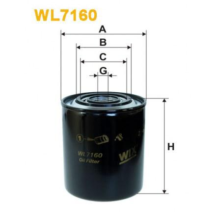 Масляный фильтр WL7160 для Citroen Jumper, Fiat Ducato, Croma, Peugeot Boxer, Renault