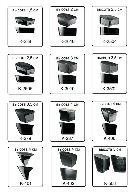 Каблуки женские пластиковые «Сталекс»  высота 1,5-5см.