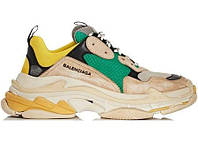 Женские кроссовки Balenciaga Triple S Sneakers Beige Green Yellow РЕПЛИКА AAA, фото 1