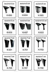 Каблуки женские пластиковые «Сталекс»  высота 6-7 см.