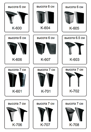 Каблуки женские пластиковые «Сталекс»  высота 6-7 см., фото 2